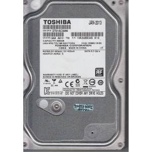 "TOSHIBA 3.5"" 500GB 7200RPM SATA HDD"