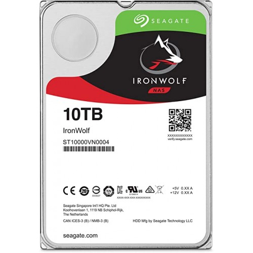 "3.5"" INTERNAL HDD SEAGATE IRON WOLF - 10 TB"