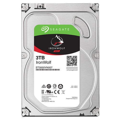 "3.5"" INTERNAL HDD SEAGATE IRON WOLF - 3 TB"