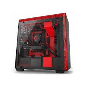 NZXT H700  BLACK , BLACK /RED ATX  TG CASING