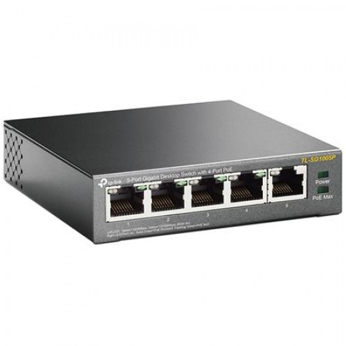 TP-LINK 5-PORT GIG SWITCH 4-PORT POE TL-SG1005P